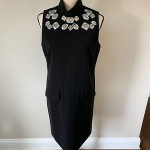 PER SE dress with mirror details